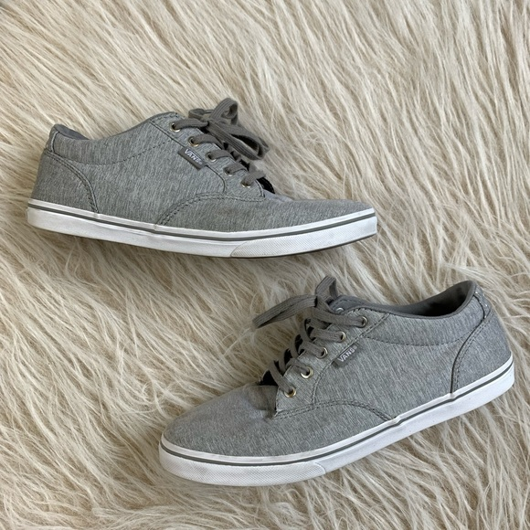 Women's vans sneakers shoes gray skate casual 9